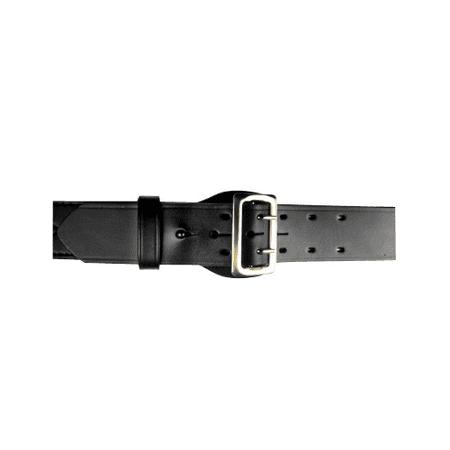 Br Block - BOSTON LEATHER 6500 SERIE BELT SAM BR LEATHER Belt Size: 44 Buckle: Nickel Color: Black Finish: Basket Weave