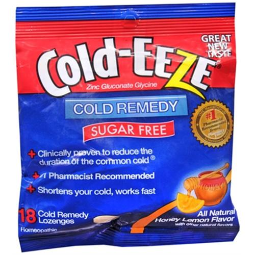 COLD-EEZE Lozenges Natural Honey Lemon Sugar Free 18 Each