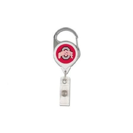 NCAA Ohio State Buckeyes Retractable Premium Badge Holder, Team Color, One Size ()