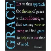 Blossom Bucket Decorative ''Grace'' Wall Box Sign