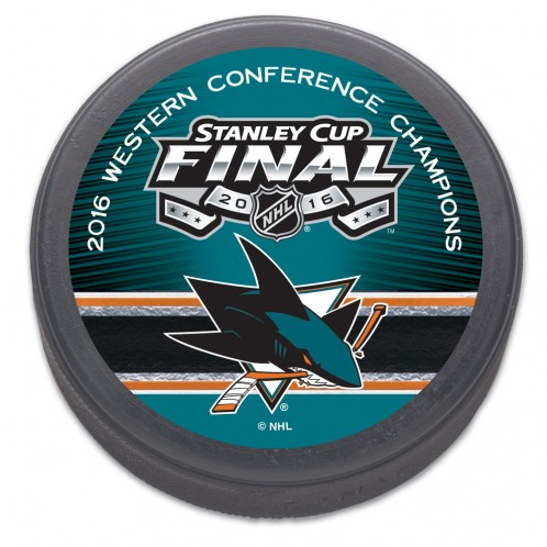San Jose Sharks NHL 2016 Western Conference Champions Stanley Cup Hockey Puck