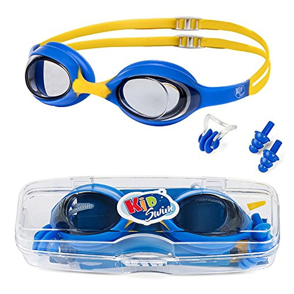 KidSwim Swimming Goggles For Children (Age 4-12) Perfect Fit, No Leak Waterproof Swim Goggles With Anti Fog Lens And... by LIVEDITOR LIGHTING