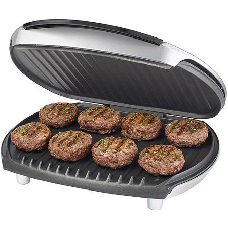 George foreman 8 serving fixed plate grill platinum - Buy george foreman grill ...