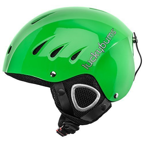 Snow Sports Helmet, Green, Small (54-55 cm) by Lucky Bums