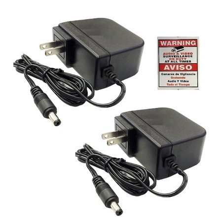 2 Pack 12V 2A 12 Volt DC 2 Amp Surveillance Camera Power Supply For Swann, 2 Pack 12V 2A 12 Volt DC 1.5 Amp Surveillance Camera Power Supply For.., By WennoW