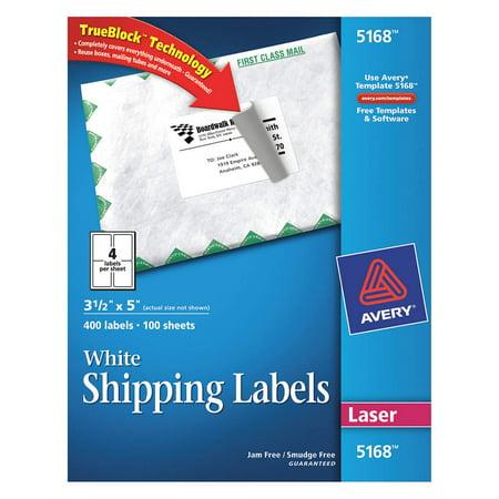 Avery Laser Label 5164 Shipping Pk100 5164 Walmart