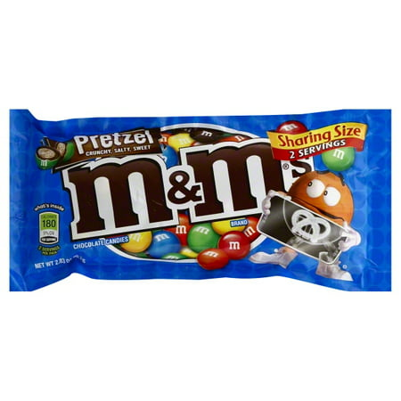 M&M's, Milk Chocolate Pretzel, Sharing Size, Single, 2.83 Oz](M&m Sharing Size)