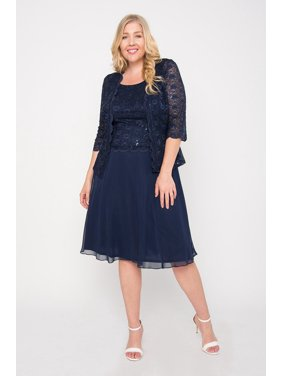 676560c317fe43 Product Image R M Richards Short Mother of Bride Jacket Dress