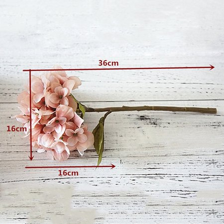 Pink silk hydrangea artificial flowers wedding flowers for the bride silk hand blooming peony fake flowers home decoration