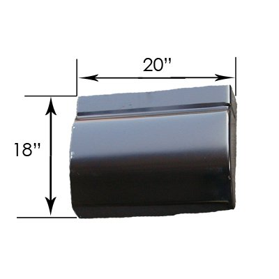 CPP Truck Cab Corner Extension RRP667 for 94-04 Chevrolet S10, GMC Sonoma ()