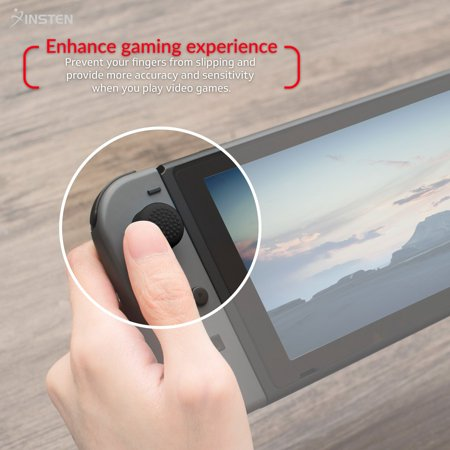 Insten [2-Pcs] Nintendo Switch Joy-Con Thumb Grip Stick Caps [Anti-Slip/Protective] For Nintendo Switch Joy Con Controller Thumb Grip [2017 New Release], Style 1 - image 4 de 10