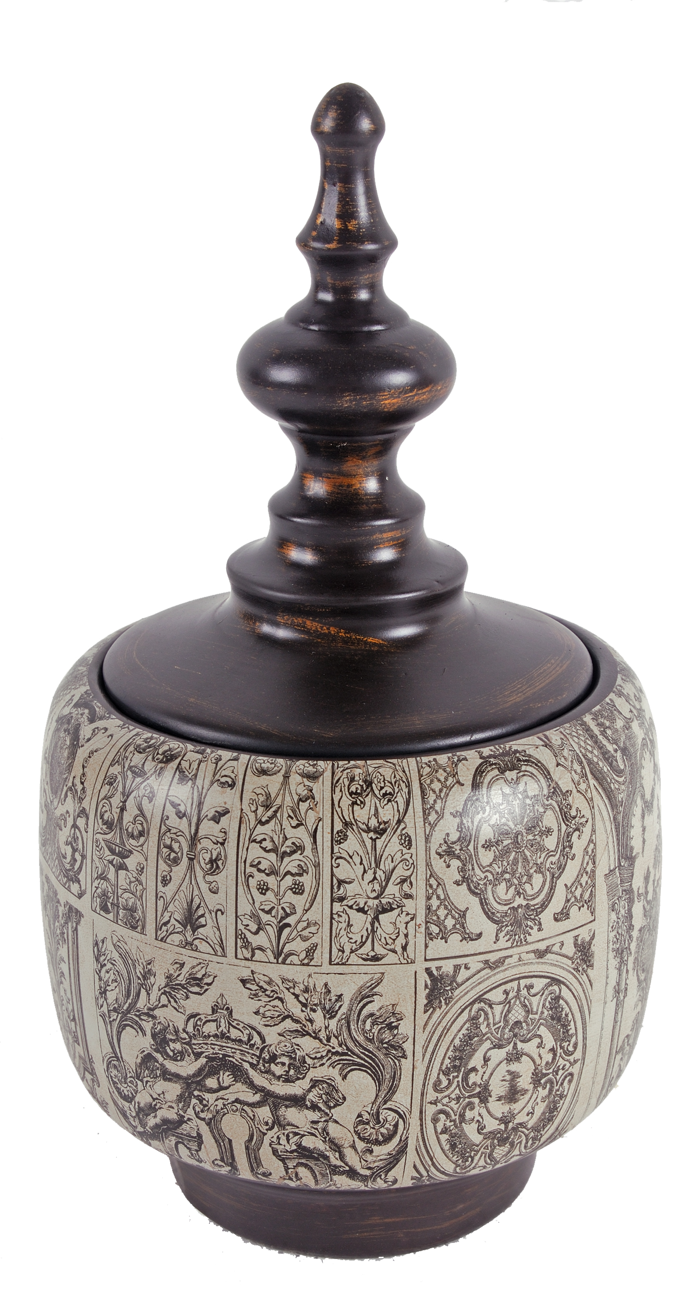 A&B Home Anthony Venetucci Ceramic Lidded Jar by A&B Home
