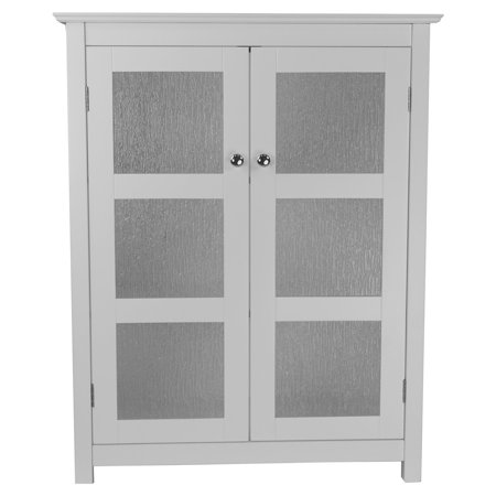 Connor Floor Cabinet with 2 Glass Doors, White