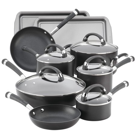 Circulon Chefs Pan - Circulon Espree Hard-Anodized Nonstick 14-Piece Cookware Set, Pewter