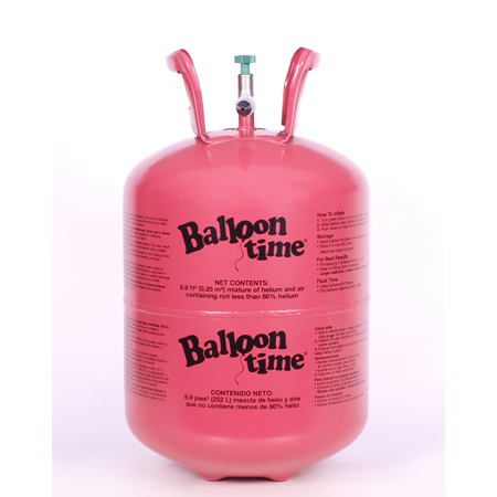 Balloon Time 9 5in Helium Tank Kit, Includes 30 Balloons & Ribbon