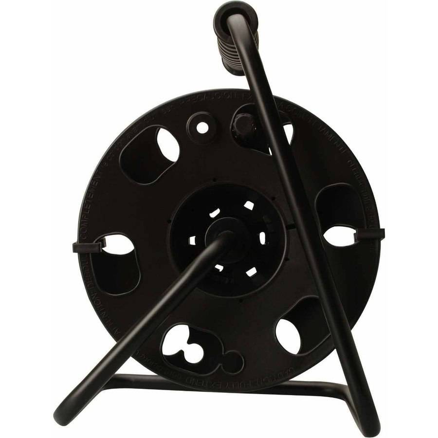 Woods 22849 16/3 AWG Cord Reel with Metal Stand, Black, Holds up to 150-Feet