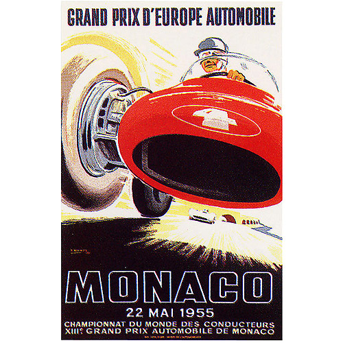 "Trademark Fine Art ""Monaco 1955"" Canvas Art by Ramel, 18x24"