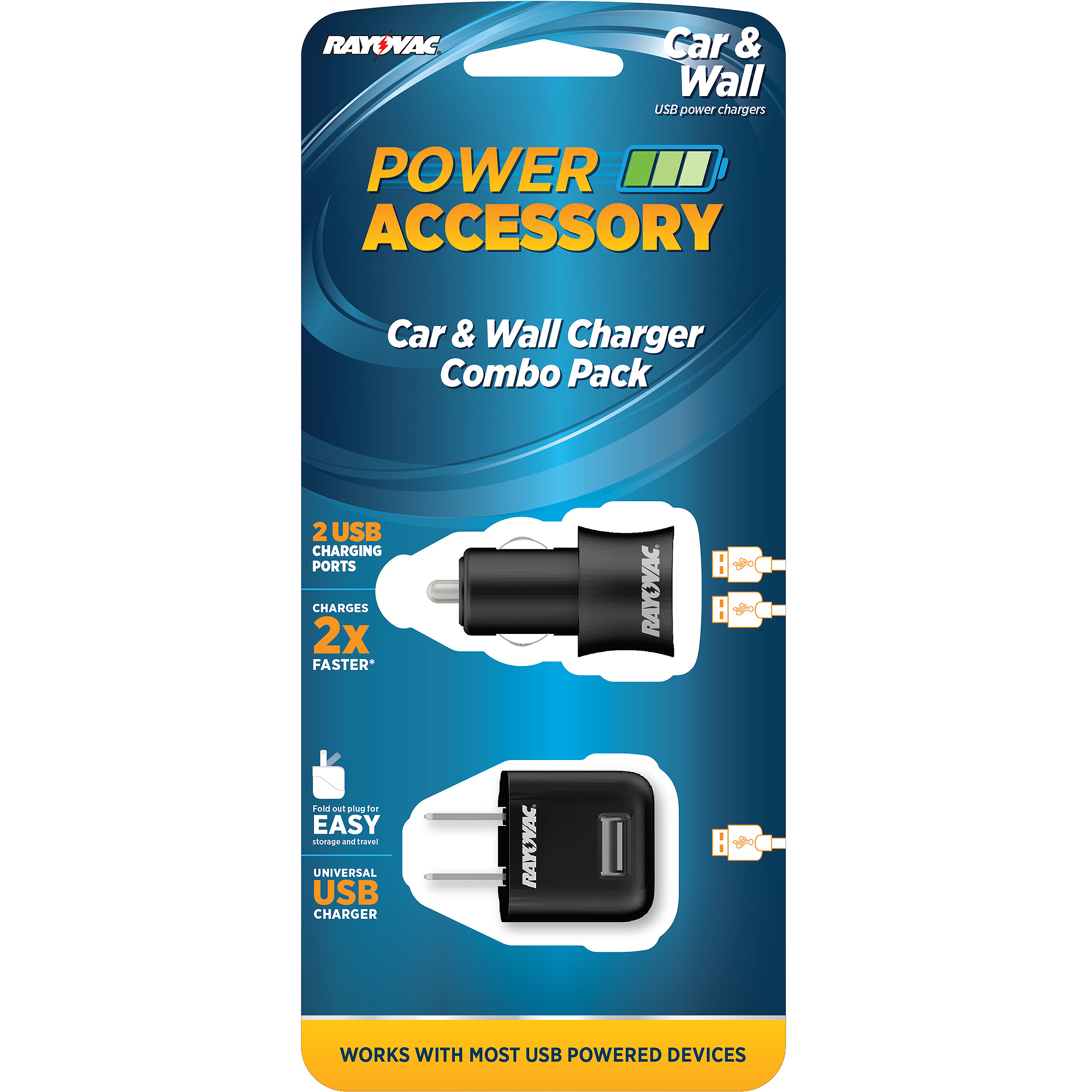 Rayovac USB Wall and Car Charger Combo Pack