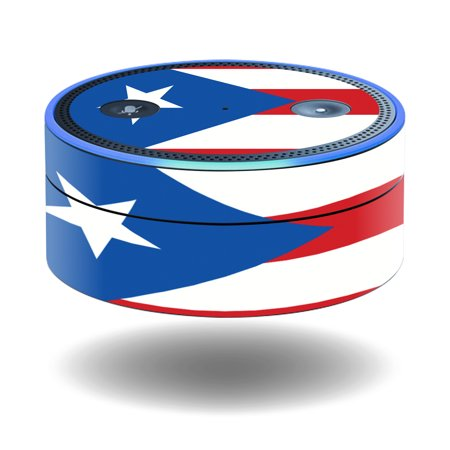MightySkins Protective Vinyl Skin Decal for Amazon Echo Dot (1st Generation) wrap cover sticker skins Puerto Rican Flag