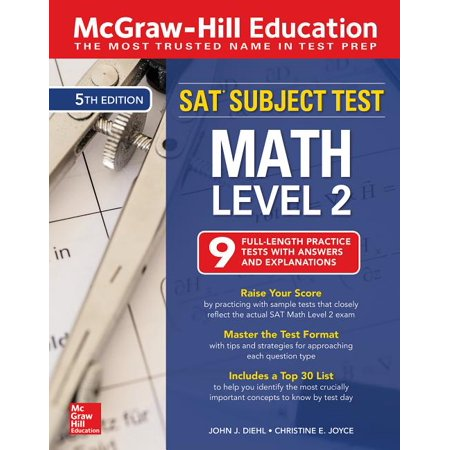 McGraw-Hill Education SAT Subject Test Math Level 2, Fifth Edition (Paperback) Mcp Math Level