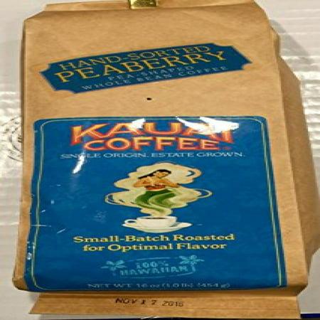 Kauai Coffee 100% Hawaiian Peaberry Whole Bean Coffee - (Best Way To Store Whole Coffee Beans)