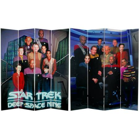 6' Tall Double Sided Star Trek Deep Space Nine Canvas Room Divider