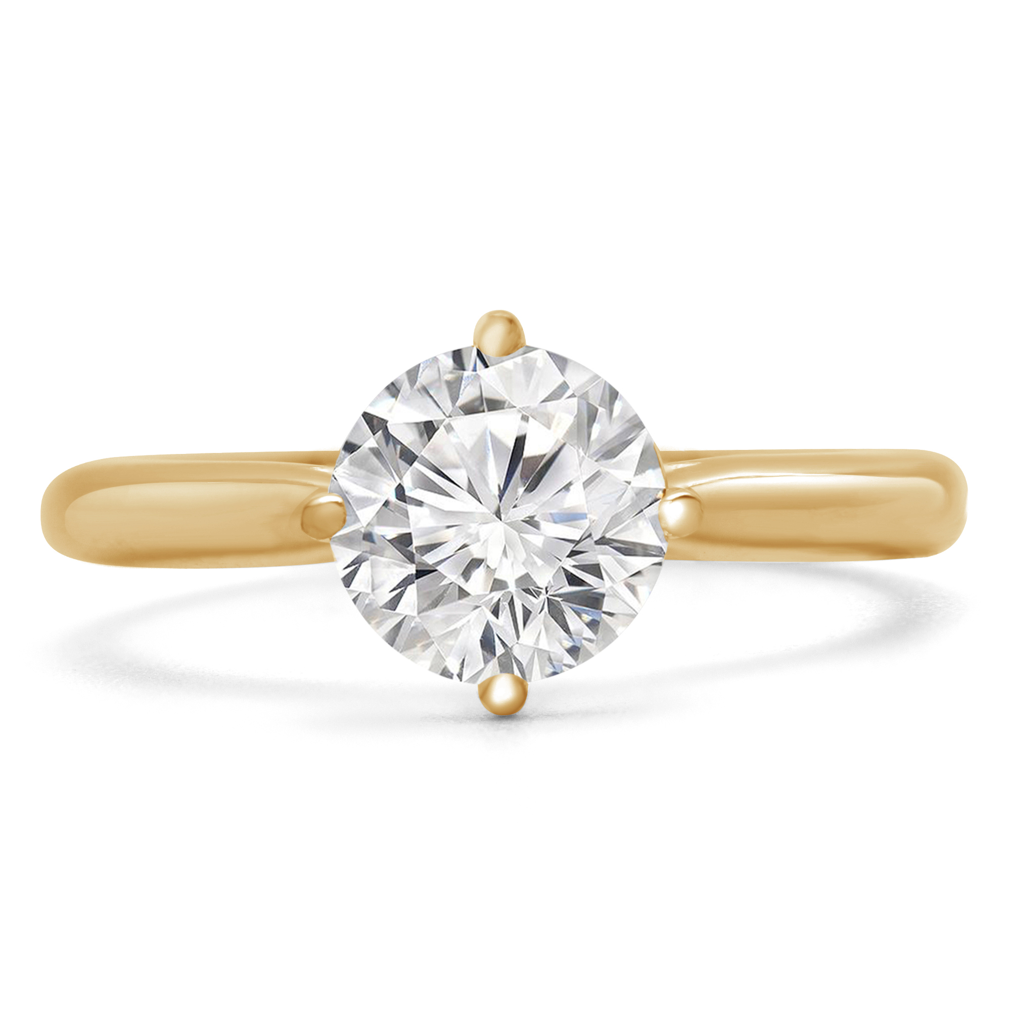 1 1/10 CT Round Diamond Solitaire Engagement Ring in 18K Yellow Gold (MD180240) - image 1 of 2