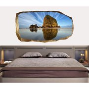 Startonight 3D Mural Wall Art Photo Decor Sky and Water Amazing Dual View Surprise Wall Mural Wallpaper for Bedroom Landscapes Wall Paper Art Gift Large 47.24 '' By 86.61 ''