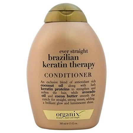 2 Pack Organix Ever Straight Brazilian Keratin Therapy Conditioner 13 Oz