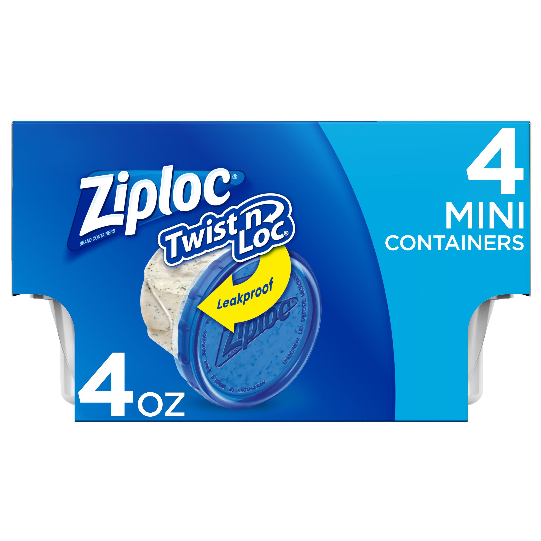 Ziploc Twist N Loc, 4 Oz., 4 Count - Walmart.com