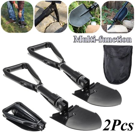 2Pcs Camping Folding Multi-Tool Tactical Shovel Military Entrenching Survival Spade - Entrenching Tool Shovel