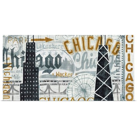 Great BIG Canvas | Rolled Michael Mullan Poster Print entitled Hey Chicago Vintage