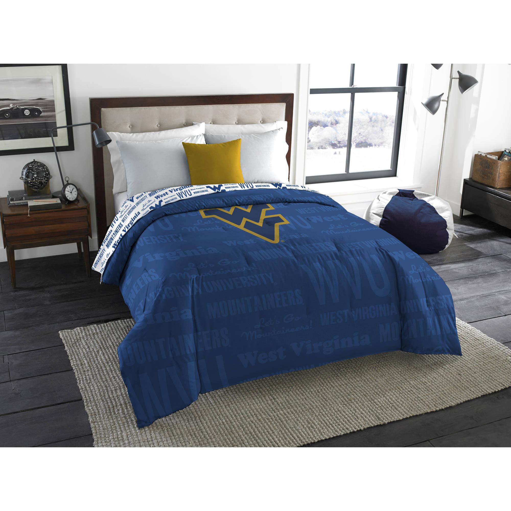 "NCAA West Virginia Mountaineers ""Anthem"" Twin/Full Bedding Comforter"