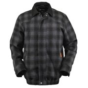 Outback Trading Jacket Mens Outerwear Trent Plaid Bomber Black 26303