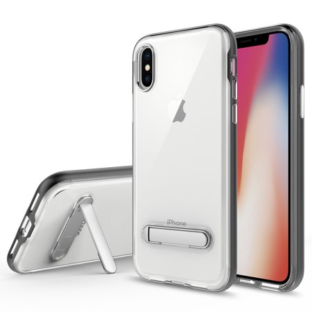 Iphone X Case  Apple Iphone X Case  Torryka Crystal Clear Hard Ultra Slim Fit Anti Scratch Bumper With Magnetic Metal Kickstand Protective Case Cover For For Iphone X  Black