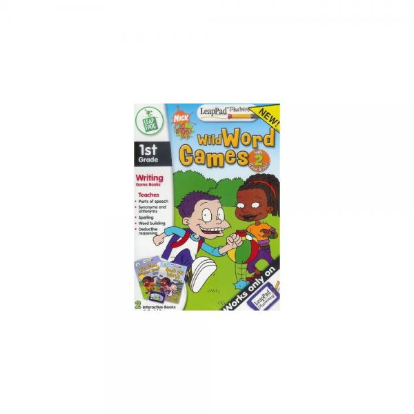 LeapFrog 1st Grade Writing Game Books Rugrats Wild Word Games for LeapPad Plus Writing... by
