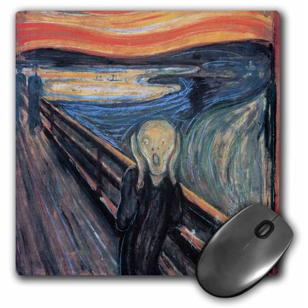 3dRose The Scream by Edvard Munch - Mouse Pad, 8 by 8-inch Munch Art Mouse Pad