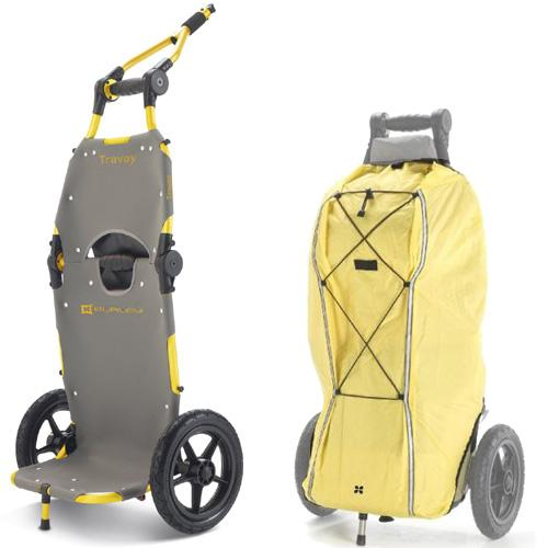 Burley 951302  Travoy Commuter Trailer with Rain Cover - Yellow