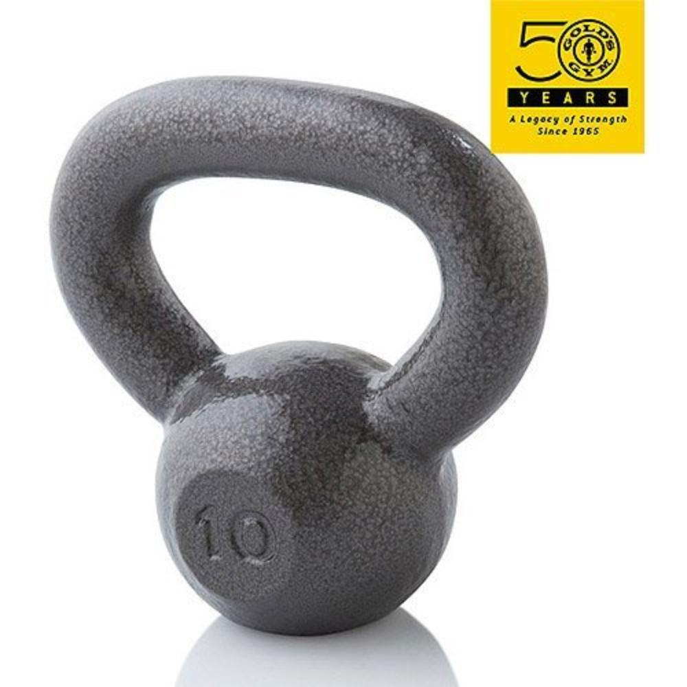 Gold's Gym KETTLEBELL GRAY 10#, Type Single Dumbbell Condition New Material Neoprene Covered Manufacturer Part Number WGGKB1013 Model WGGKB1013.., By Golds Gym