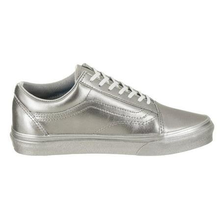 Vans Unisex Old Skool Skate Shoe - Sparkly Silver Vans