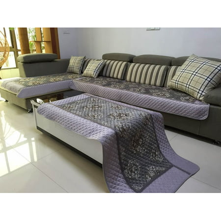 Ofit High Quality Chenille Quilted Sectional Sofa Throw Pads Furniture Protector Sold By Piece Rather Than Set