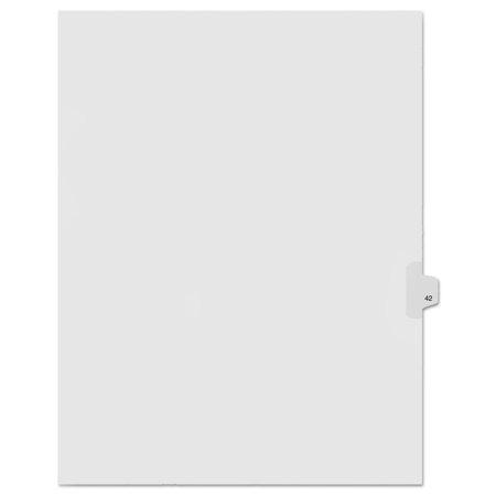 """90000 Series Legal Exhibit Index Dividers, Side Tab, Printed """"42"""", 25/Pack"""