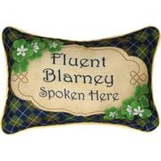 Manual Woodworkers & Weavers Irish Luck Word Lumbar Pillow