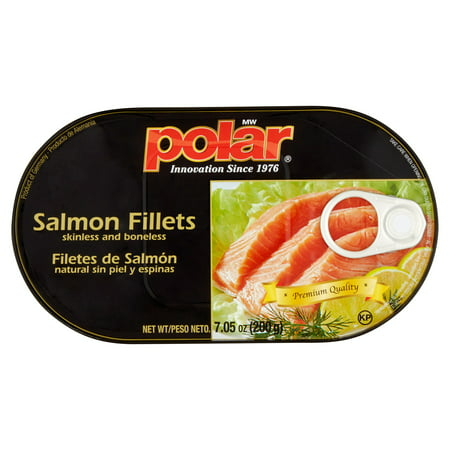 (2 Pack) Polar Skinless and Boneless Salmon Fillets, 7.05