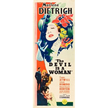 The Devil Is A Woman Movie Poster Insert 14x36