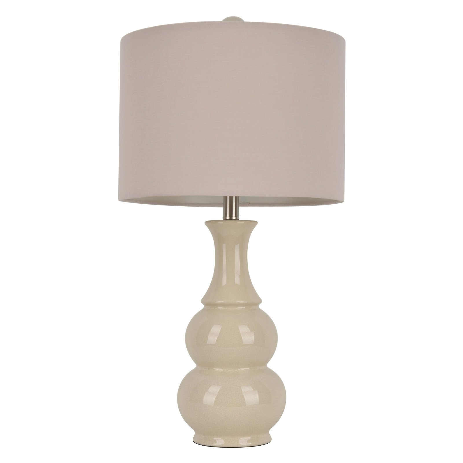 Ivory Crackle Double Gourd Ceramic Table Lamp by Jimco Lamp & Manufacturing