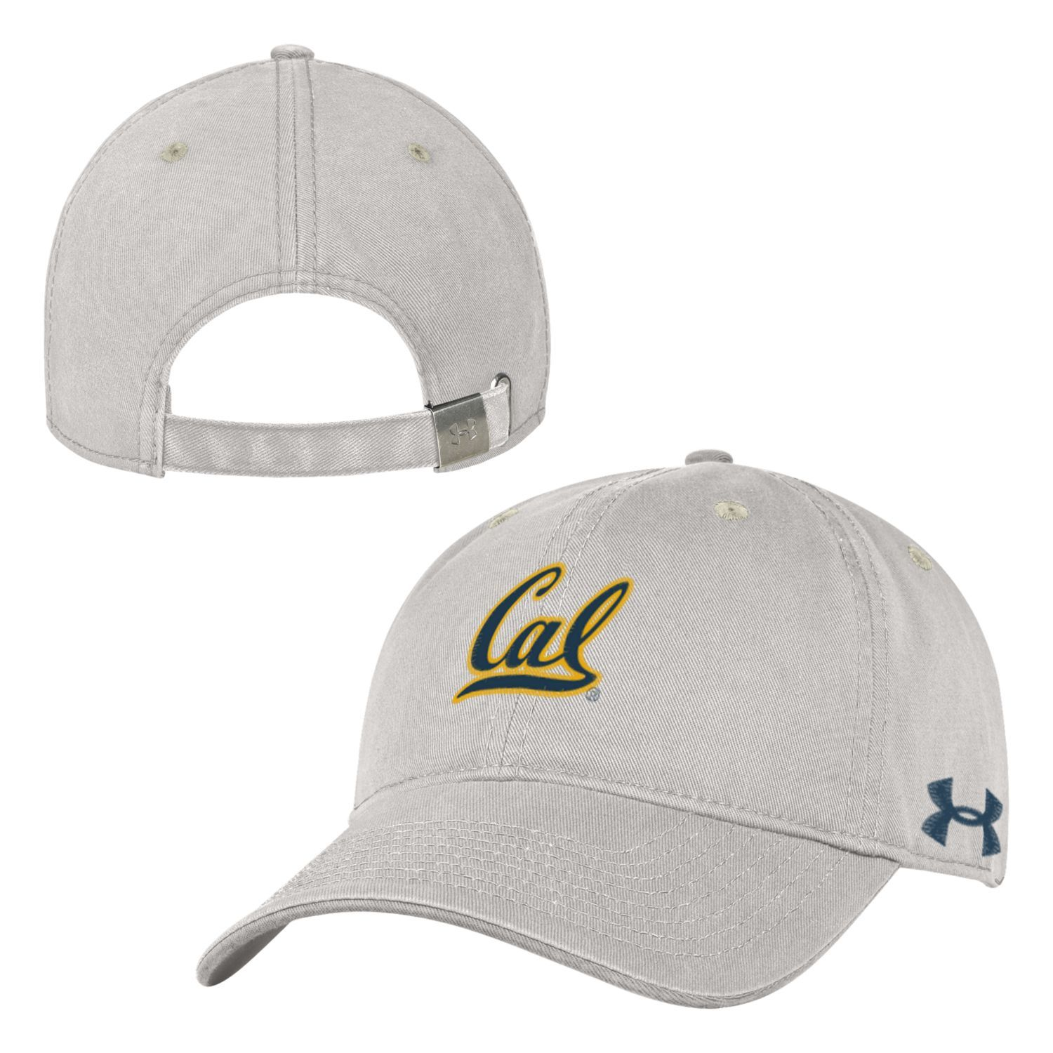 UC Berkeley Cal Embroidered Under Armour Low Profile  Hat - STONE