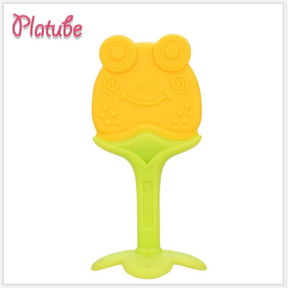 Non-toxic Safety Cartoon Shape Baby Teether Toys Tooth Training Tools for Baby