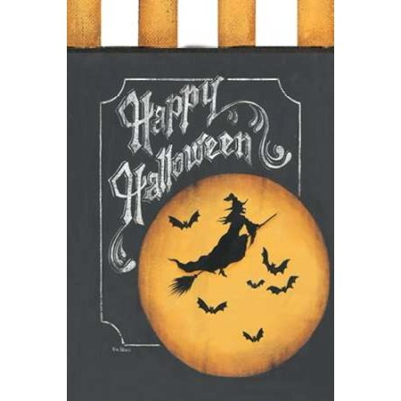 Happy Halloween Flag Canvas Art - Kim Lewis (12 x 18)](Notre Lewis Halloween)