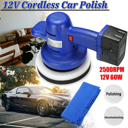 12V 60W 2500rpm Cordless Car Polisher Waxing Buffing Electric Polishing
